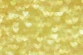 Defocused abstract golden hearts light background — Foto de Stock