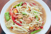 Green papaya salad hot and spicy thai cuisine — ストック写真
