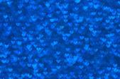 Luz de fundo desfocado abstrata corações azul — Fotografia Stock