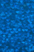 Defocused abstract blue hearts light background — Stock Photo