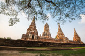 Wat chaiwatthanaram temple, ayutthaya, thailand — Стоковое фото