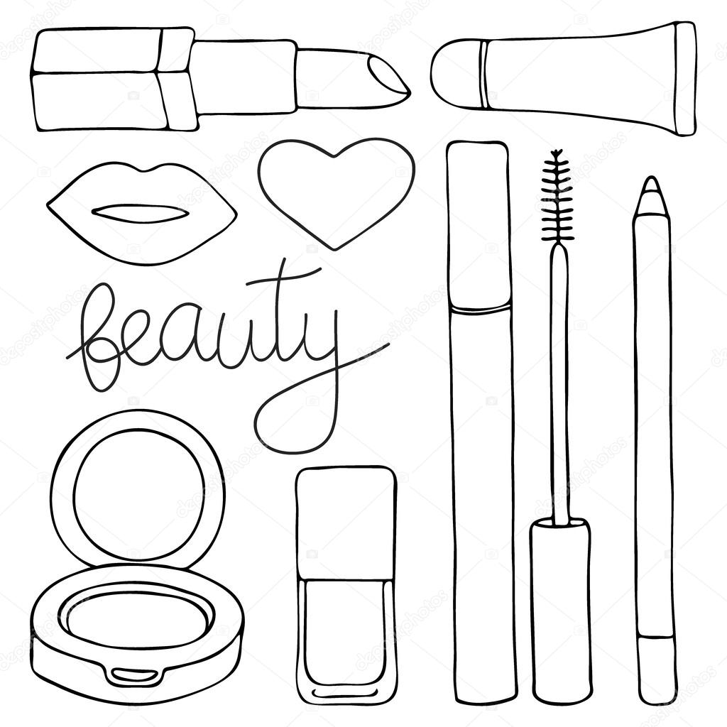 Cosmetics Or Make Up Set Hand Drawn 36709961 as well Num Noms Coloring Pages together with Drawn lips outline further 2014 09 01 archive moreover Lipstick. on cartoon lip gloss