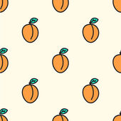 Seamless pattern with apricot. Vector illustration. — Stock Vector