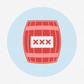 Pirate icon, cask or barrel. Flat design style modern vector illustration. — Vettoriale Stock