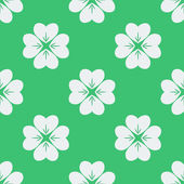 Seamless pattern with clovers.  — Stock Vector