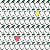 Seamless pattern with apple. Vector illustration. — Stok Vektör