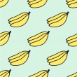 Seamless hand-drawn pattern with banana. Vector illustration. — Stock Vector #69541749