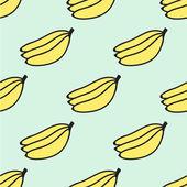 Seamless hand-drawn pattern with banana. Vector illustration. — Stock Vector