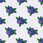 Seamless hand-drawn pattern with blueberry. Vector illustration. — Stock Vector