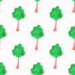 Seamless pattern with trees. Hand-drawn background. Vector illustration. — Stock Vector #69562013