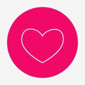 Flat style heart icon with. vector illustration. — Cтоковый вектор