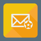 Mail icon, simple star. Flat design vector illustration. — Vector de stock