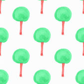 Seamless pattern with trees. Hand-drawn background. Vector illustration. — Stock Vector