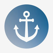 Pirate or sea icon, anchor. Flat style vector illustration — Stock Vector