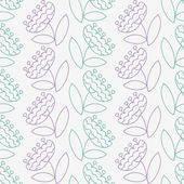 Ornate floral seamless texture, vector illustration. — Stockvektor