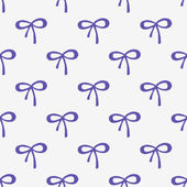 Seamless watercolor pattern with tiny bows on the white background, aquarelle.  Vector illustration. Hand-drawn background. — Stock Vector