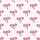 Seamless watercolor pattern with red bows on the white background, aquarelle.  Vector illustration. — Stock Vector