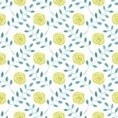 Seamless watercolor pattern with roses on the white background, aquarelle.  Vector illustration. Hand-drawn background. — Stock Vector