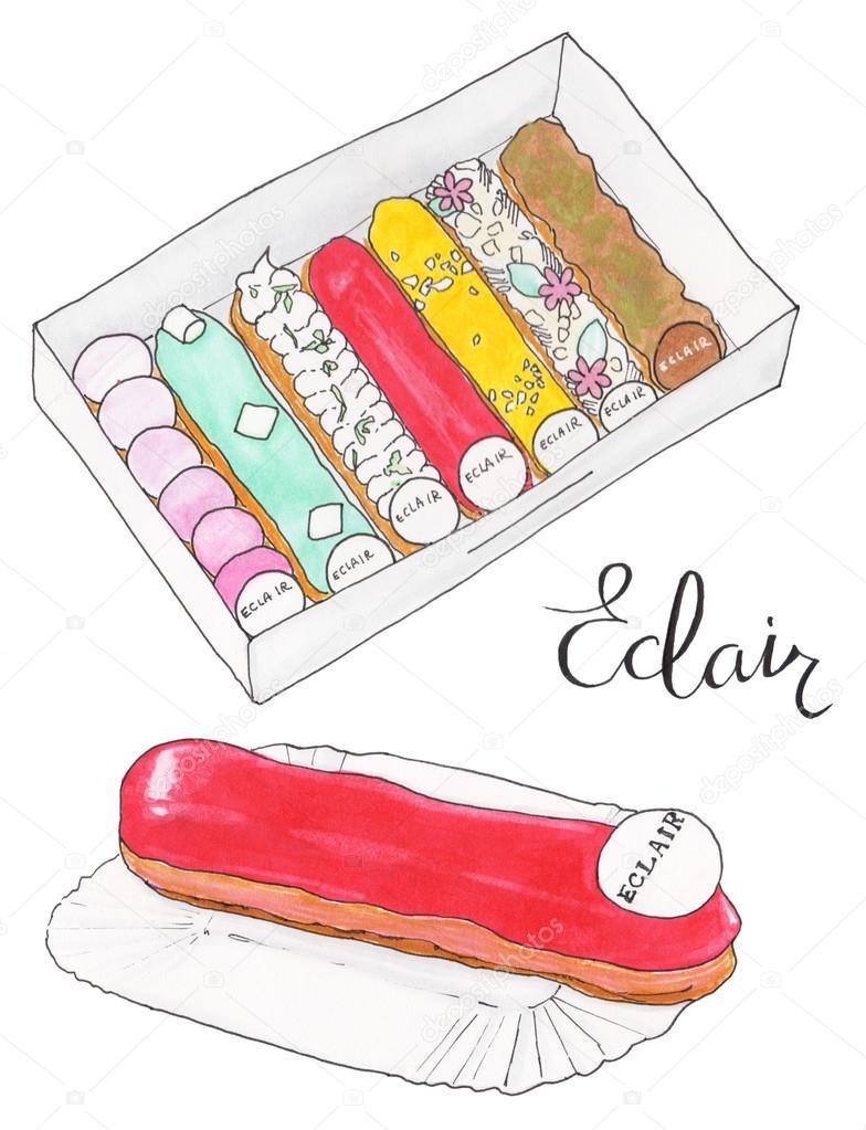 Eclair sertie d 39 clairs au fran ais et la calligraphie - Eclaire dessin ...