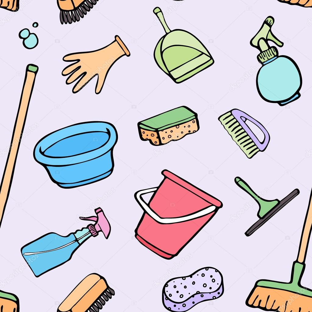 Free Cartoon Cleaning Lady Vector  Vecteezy