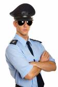 Portrait of young policeman — Stock Photo