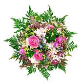букет цветов с розами и гортензиями — Стоковое фото