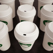 Paper Coffee Cups in Rows — Stock Photo #52148741