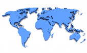 The world map — Stock Photo