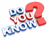 Do you know? — Stock Photo