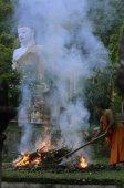 Downstairs entré i Wat Phra att Doi Kong Mu templet — Stockfoto