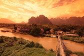 ASIA SOUTHEASTASIA LAOS VANG VIENG LUANG PRABANG — Stock Photo