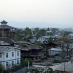 ASIA MYANMAR INLE LAKE NYAUNGSHWN CITY — Stock Photo #76944011