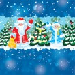 Santa Claus and Snow Maiden — Stock Vector #52264853