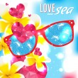 Love and the sea vector summer light illustration — Stock Vector #52265359