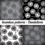 Dandelions. Set — Stock Vector #52265613