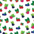 Постер, плакат: Berries seamless pattern