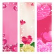 Set of vector love banners. Elements for design. — Vetor de Stock  #52267361