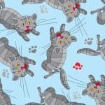 Multi-colored cats. — Stock Vector #52268445