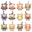 A set of multi-colored bears — Vecteur #52268579