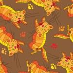 Multi-colored cats. — Stock Vector #52268627