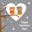 Greeting card for Valentine's day. Vector illustration. — Stock Vector #52268787