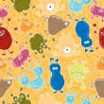 Bacteria. Seamless vector pattern. Medicine background — Stock Vector #52269651