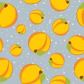 Peaches seamless pattern — Stock Vector