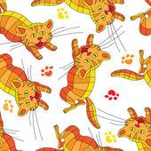 Multi-colored cats. — Stock Vector
