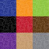 Set of background Swirls. — Vector de stock