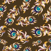 Plumage background seamless pattern — Stock Vector