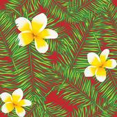 Plumeria seamless pattern — Stock Vector