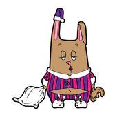 Sleepy bunny pajamas.  — Stock Vector