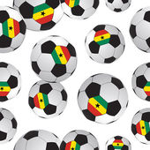 Footballs.sports hintergrund. — Stockvektor