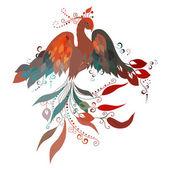 Beautiful  Firebird. — Stock Vector